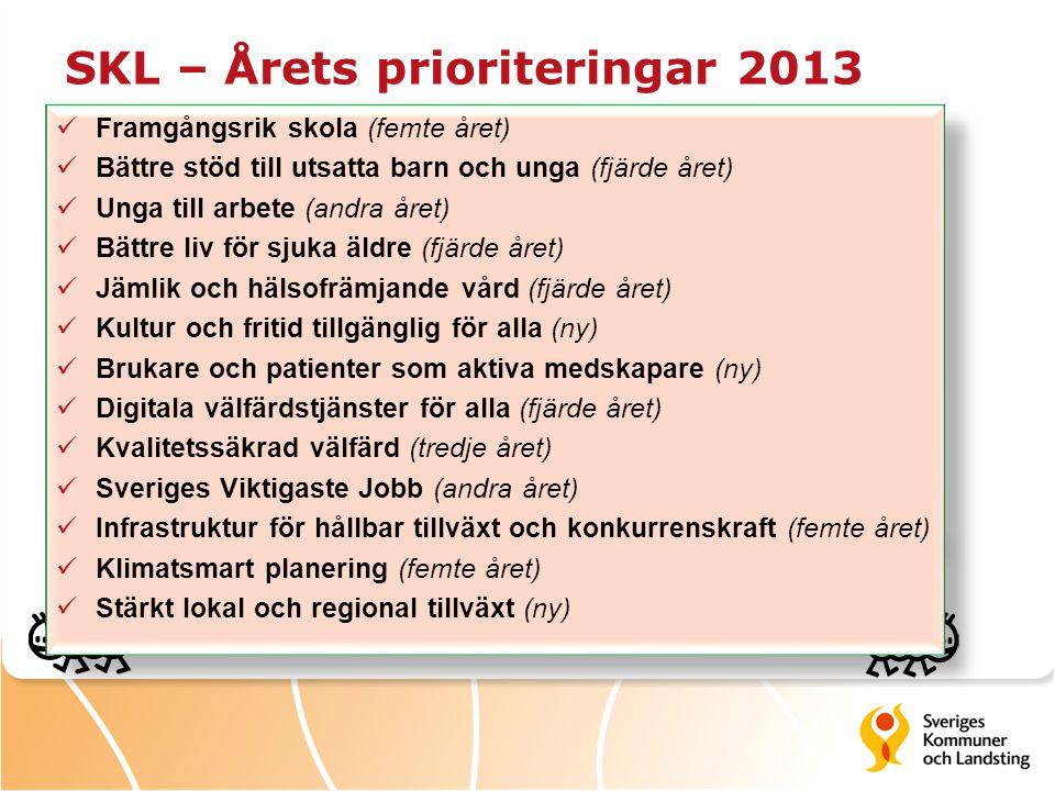 SKL – Årets prioriteringar 2013