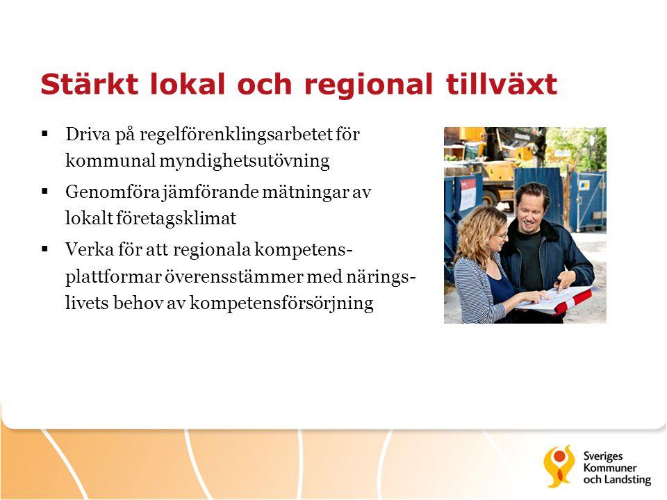 Stärkt lokal och regional tillväxt
