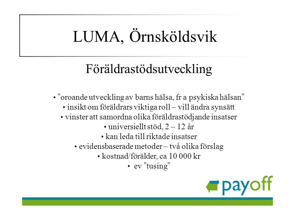 LUMA, Örnsköldsvik Föräldrastödsutveckling