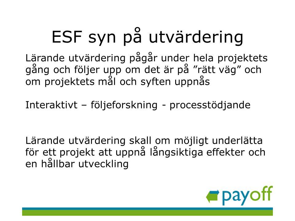 ESF syn på utvärdering