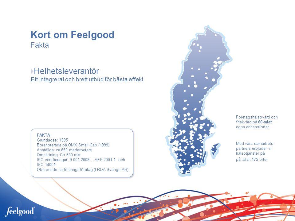 2006-03-01 Kort om Feelgood. Fakta. Helhetsleverantör Ett integrerat och brett utbud för bästa effekt.