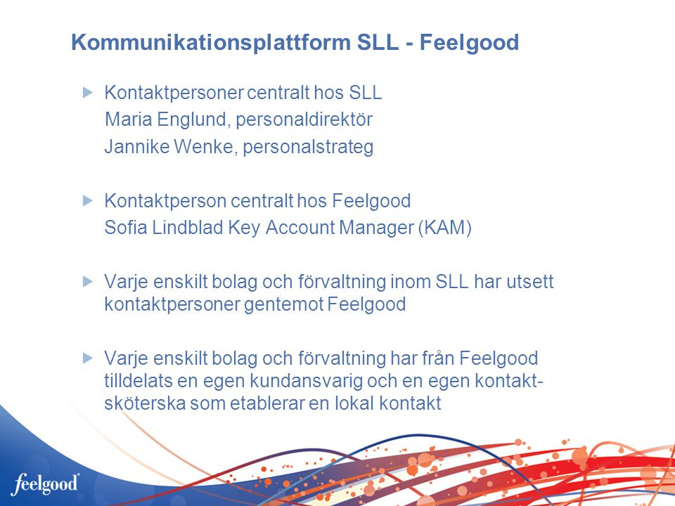 Kommunikationsplattform SLL - Feelgood