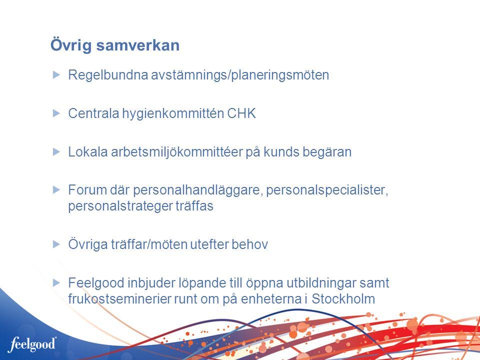 Övrig samverkan Regelbundna avstämnings/planeringsmöten