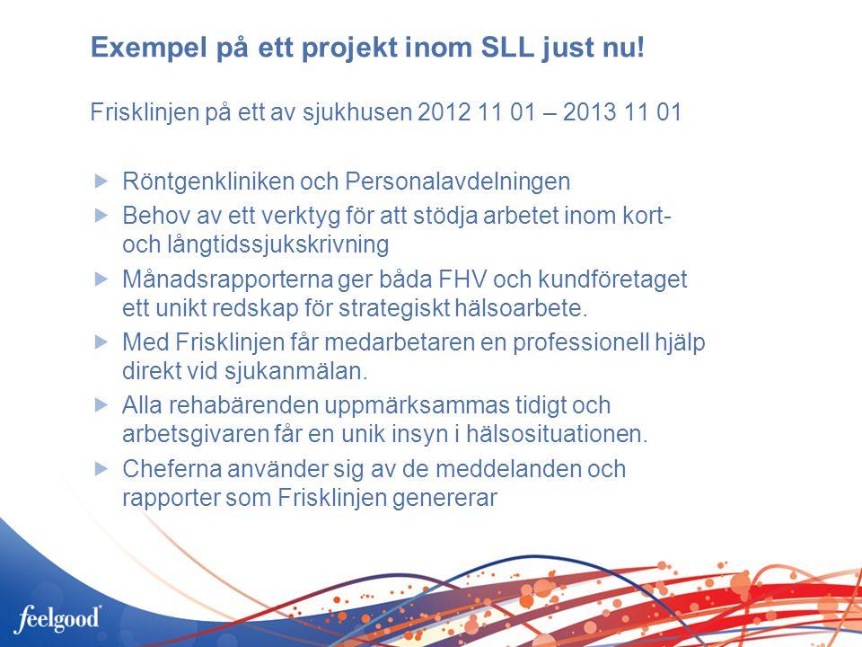 Exempel på ett projekt inom SLL just nu!