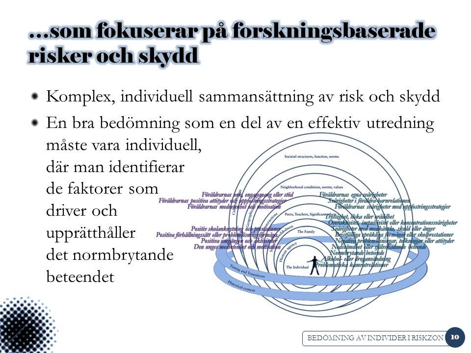 …som fokuserar på forskningsbaserade risker och skydd