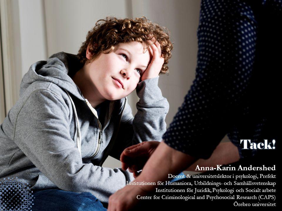 Tack! Anna-Karin Andershed