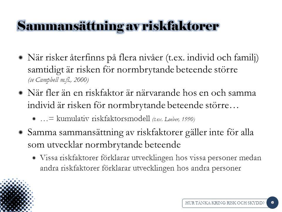 Sammansättning av riskfaktorer