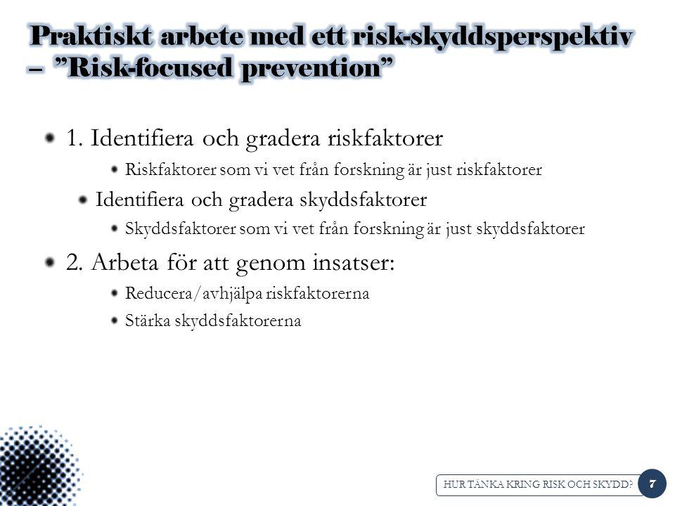 1. Identifiera och gradera riskfaktorer