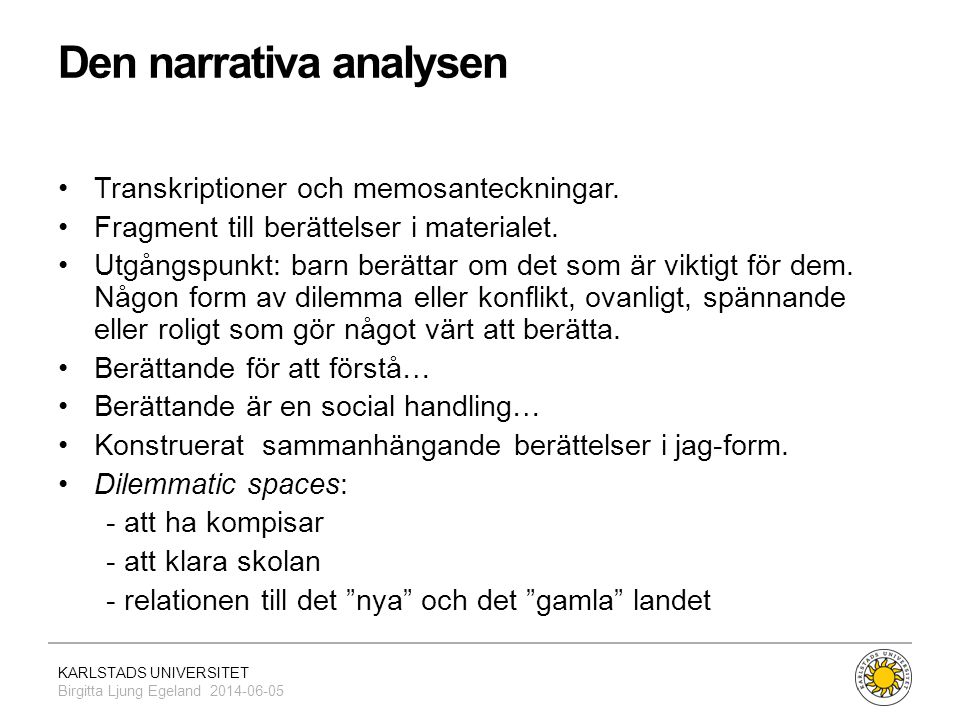 Den narrativa analysen
