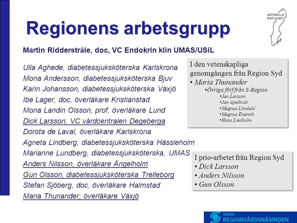 Regionens arbetsgrupp