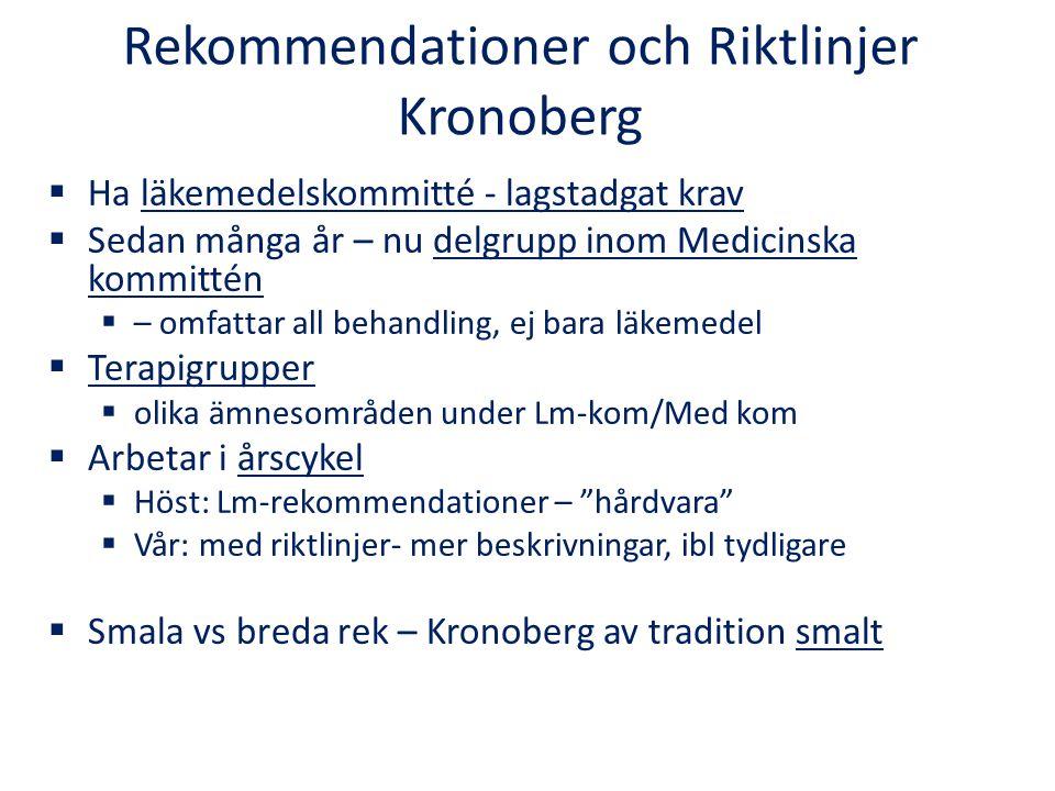 Rekommendationer och Riktlinjer Kronoberg