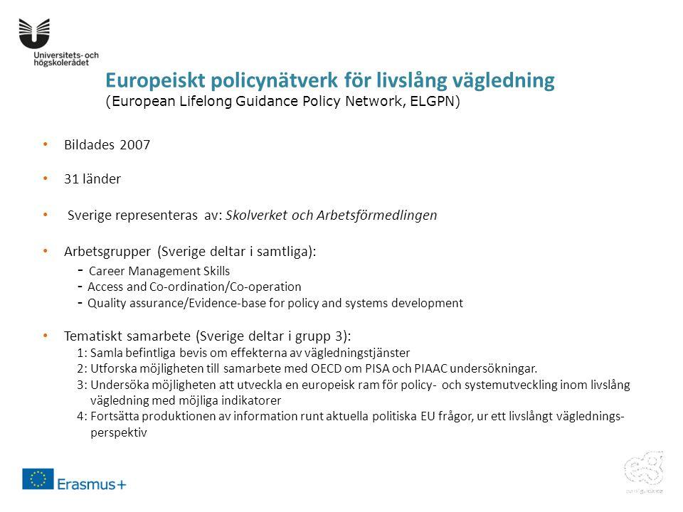 Europeiskt policynätverk för livslång vägledning