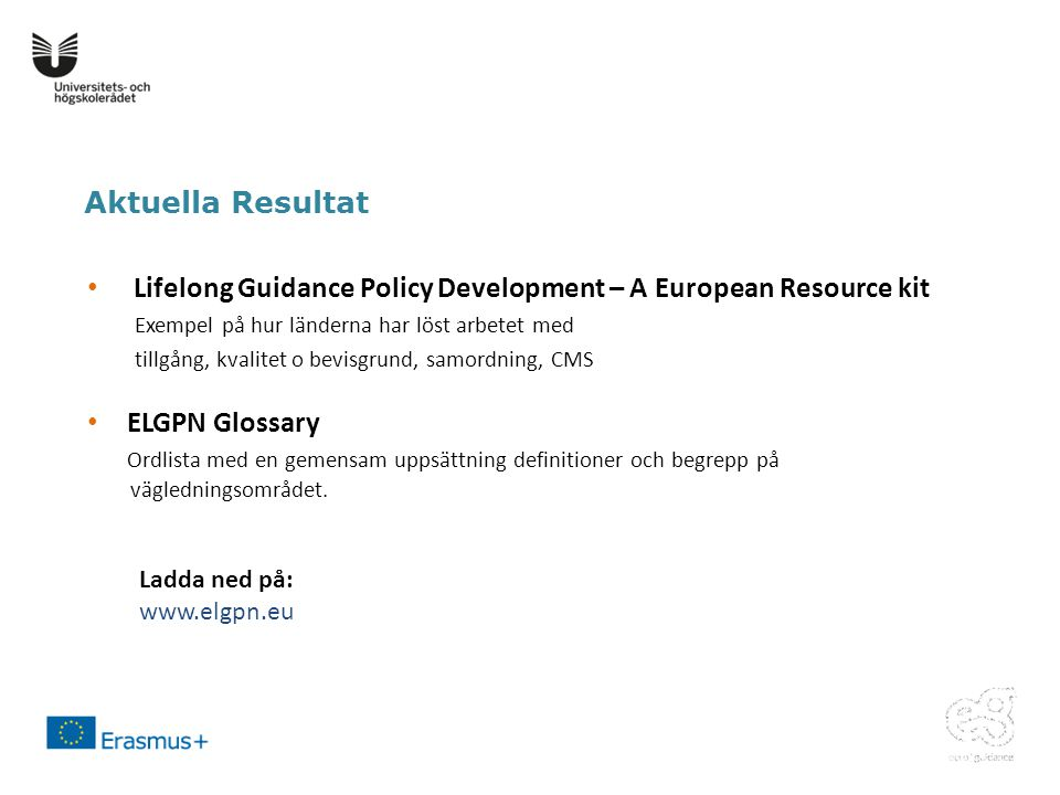 Lifelong Guidance Policy Development – A European Resource kit