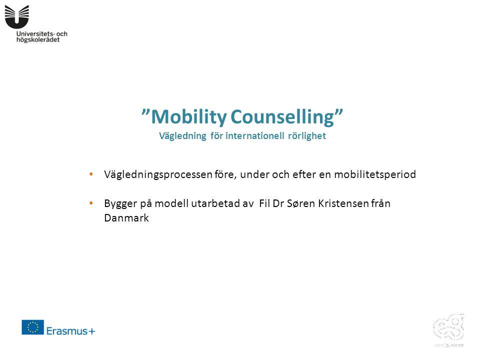 Mobility Counselling Vägledning för internationell rörlighet