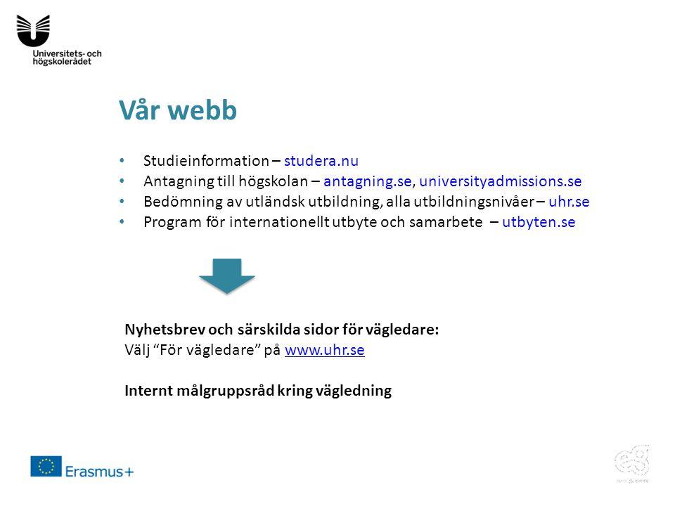 Vår webb Studieinformation – studera.nu