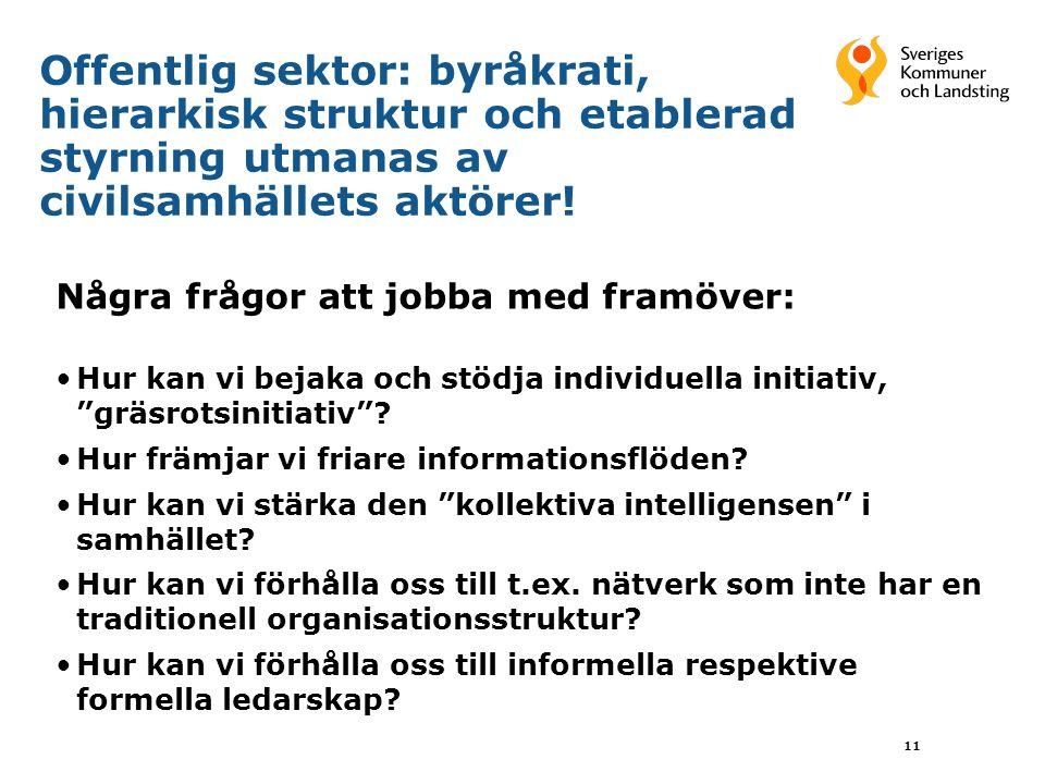 Offentlig sektor: byråkrati, hierarkisk struktur och etablerad styrning utmanas av civilsamhällets aktörer!
