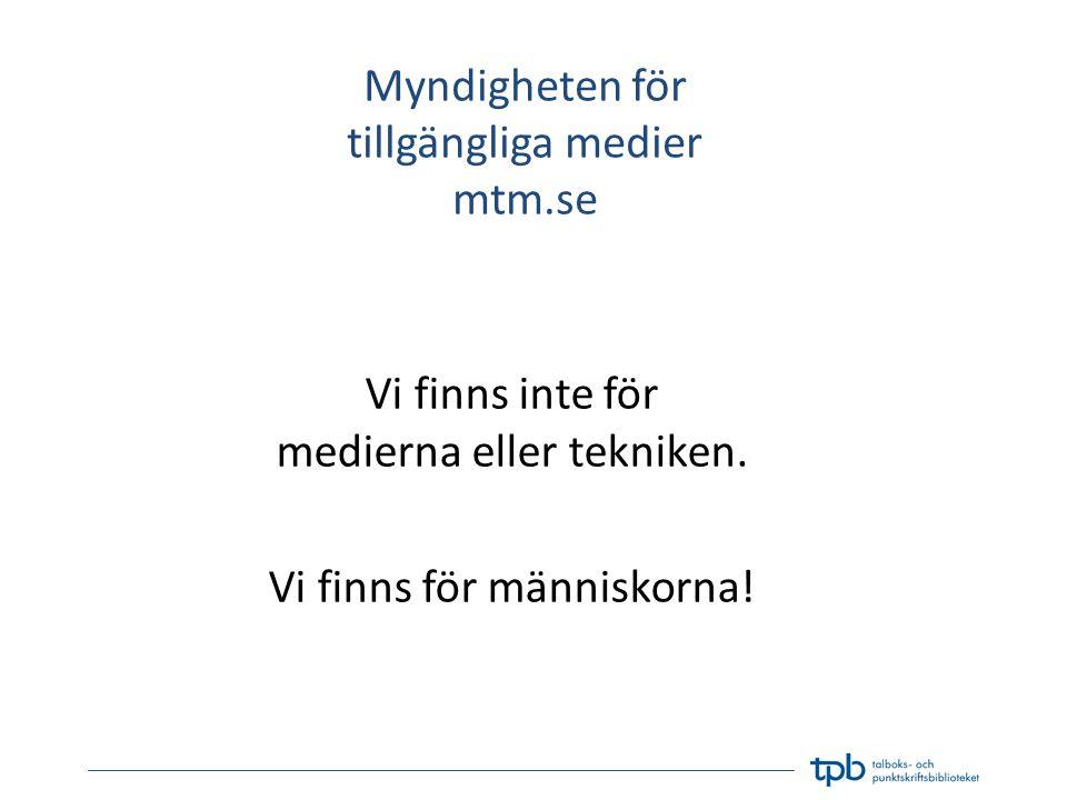 Myndigheten för tillgängliga medier mtm.se