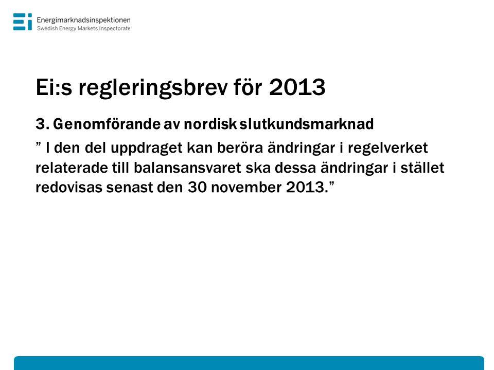 Ei:s regleringsbrev för 2013