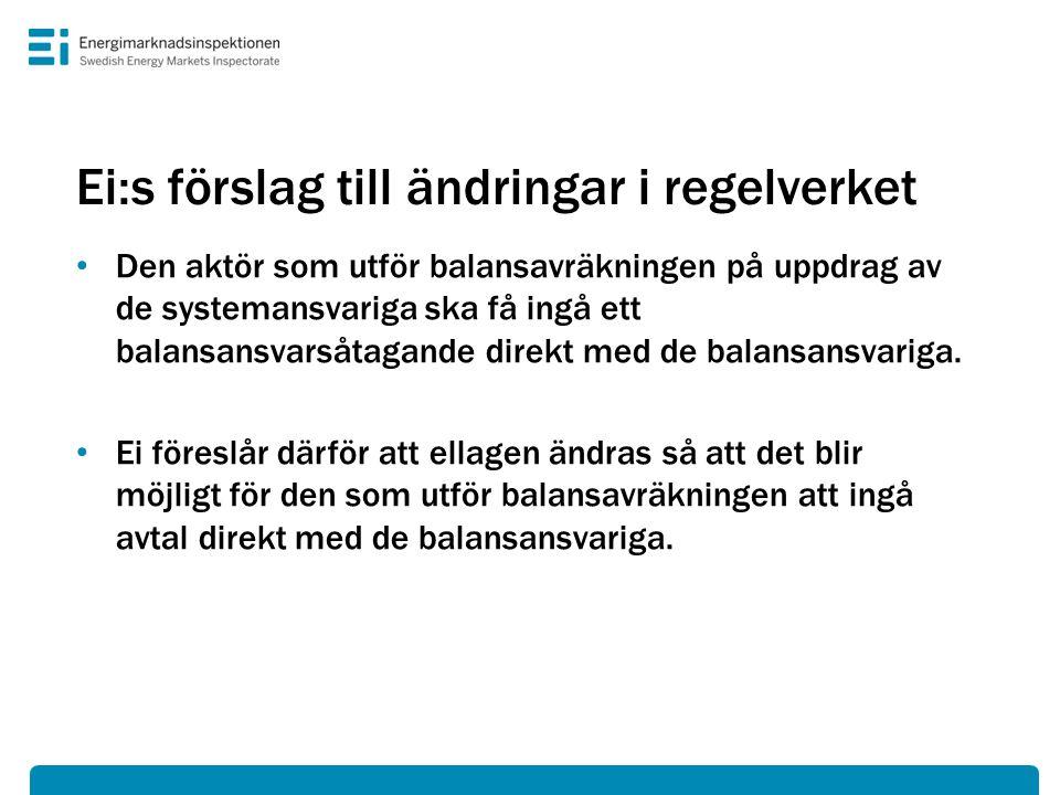 Ei:s förslag till ändringar i regelverket
