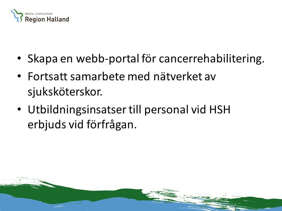 Skapa en webb-portal för cancerrehabilitering.