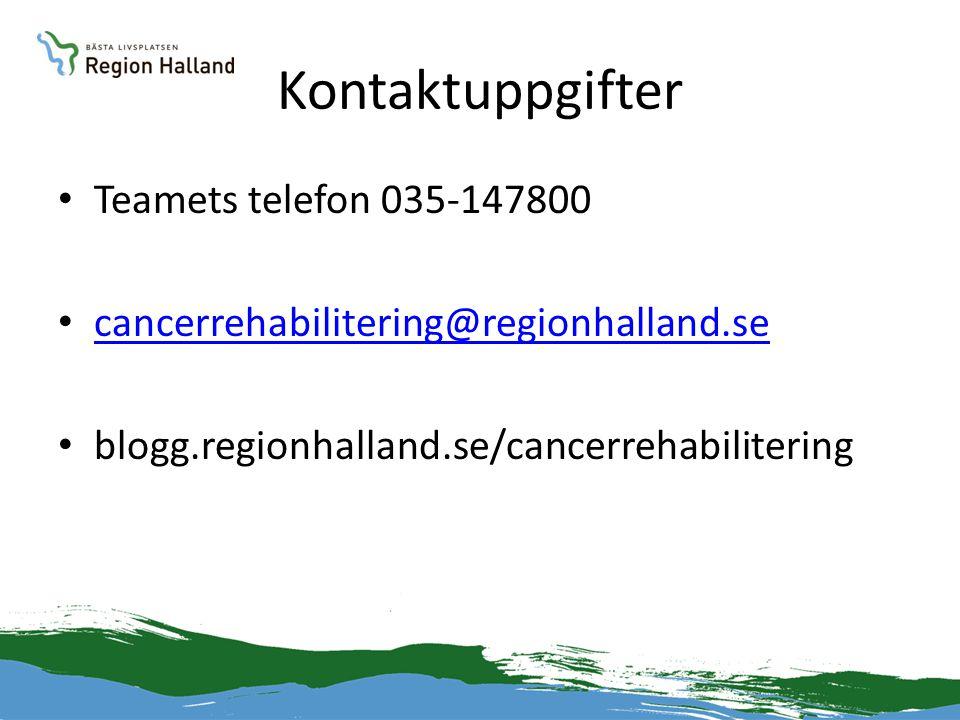 Kontaktuppgifter Teamets telefon 035-147800