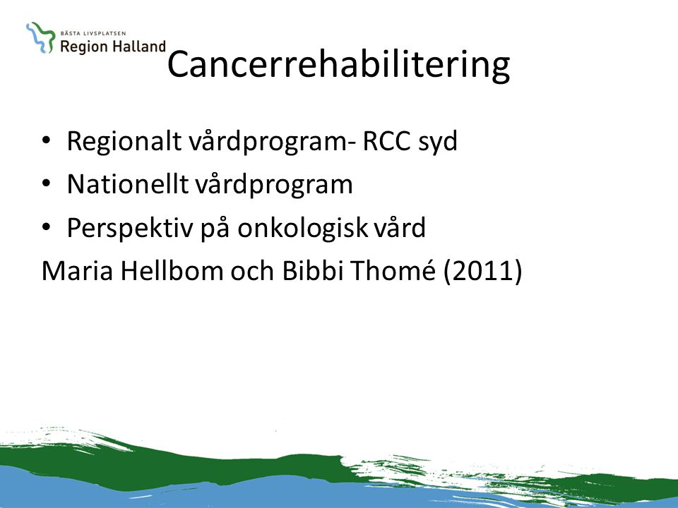 Cancerrehabilitering