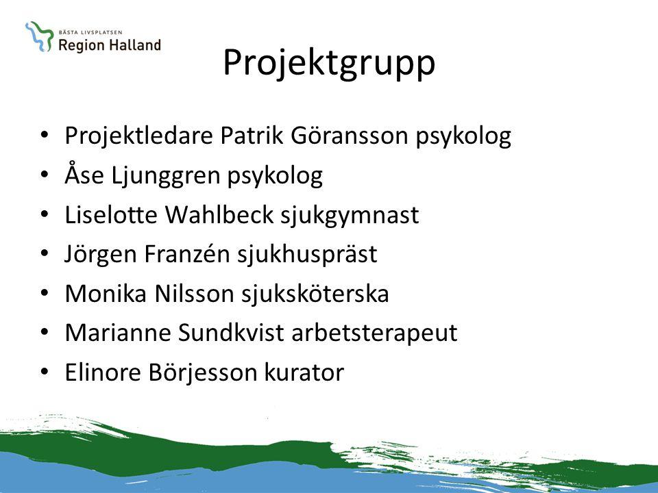 Projektgrupp Projektledare Patrik Göransson psykolog