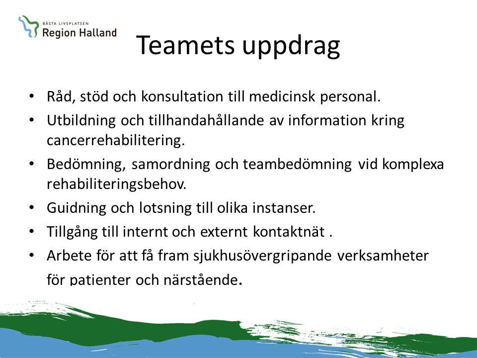Teamets uppdrag Råd, stöd och konsultation till medicinsk personal.