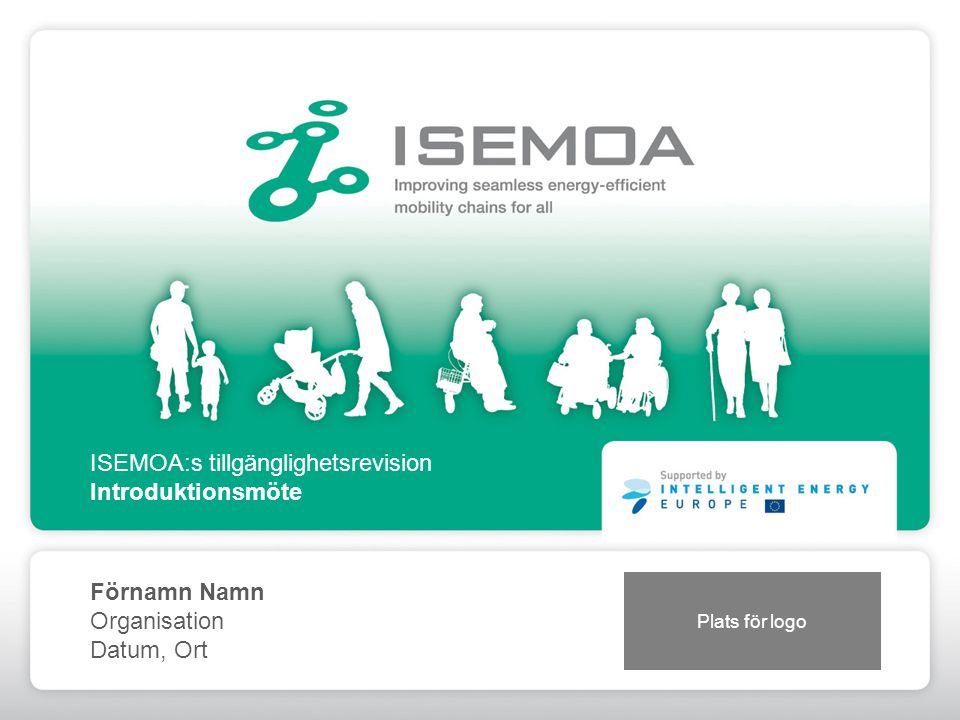 ISEMOA:s tillgänglighetsrevision Introduktionsmöte