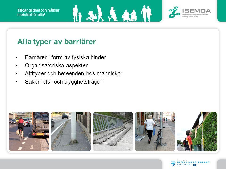 Alla typer av barriärer