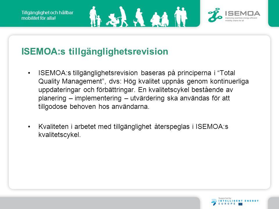 ISEMOA:s tillgänglighetsrevision