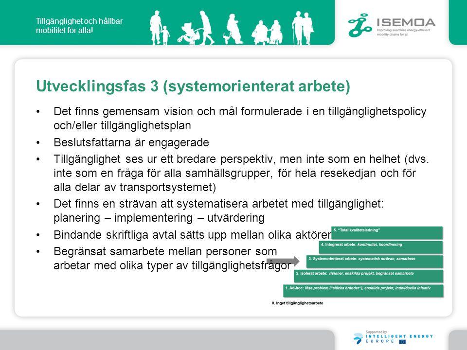 Utvecklingsfas 3 (systemorienterat arbete)