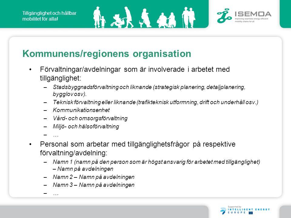Kommunens/regionens organisation