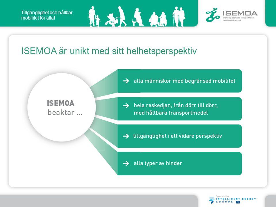 ISEMOA är unikt med sitt helhetsperspektiv