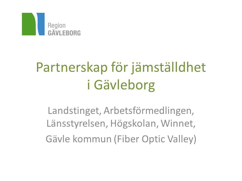 Partnerskap för jämställdhet i Gävleborg