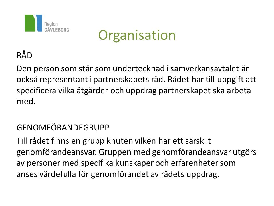 Organisation RÅD.