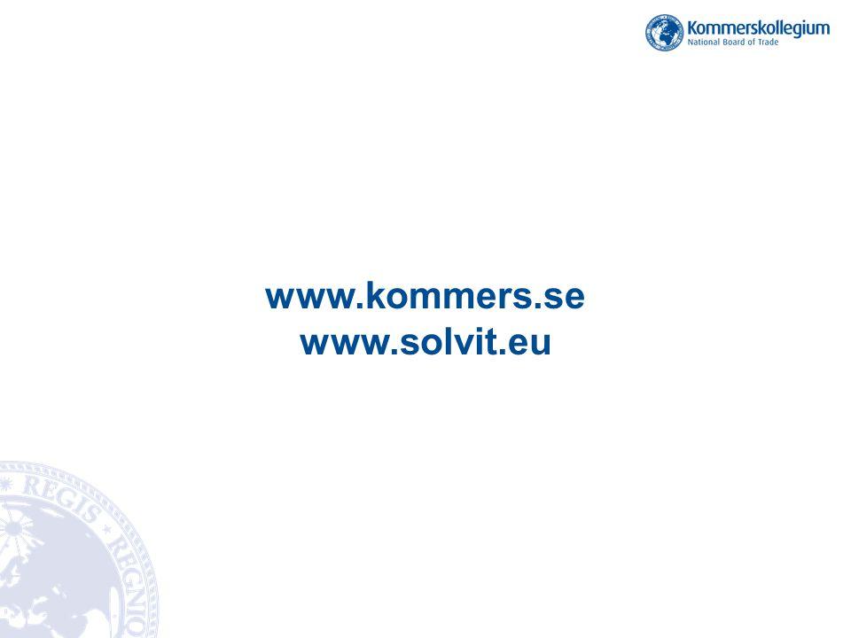 www.kommers.se www.solvit.eu