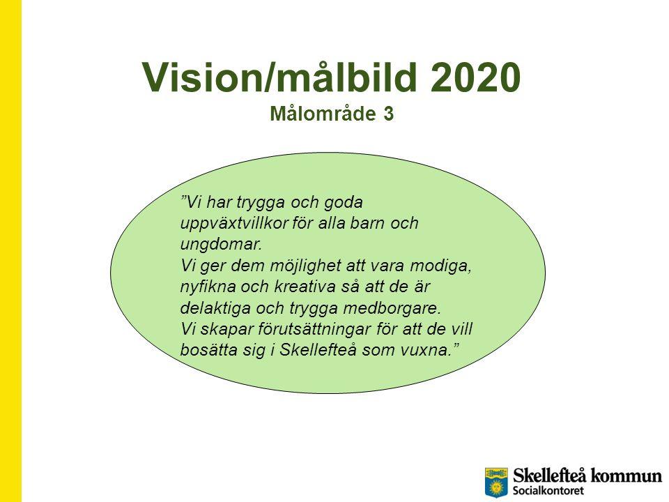 Vision/målbild 2020 Målområde 3