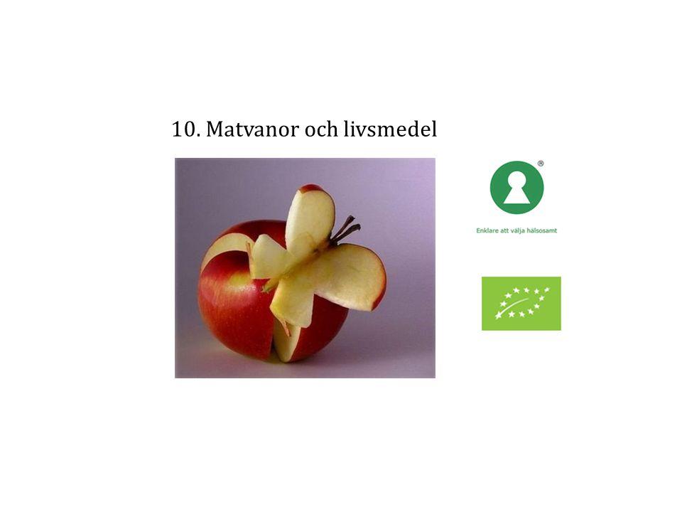 10. Matvanor och livsmedel