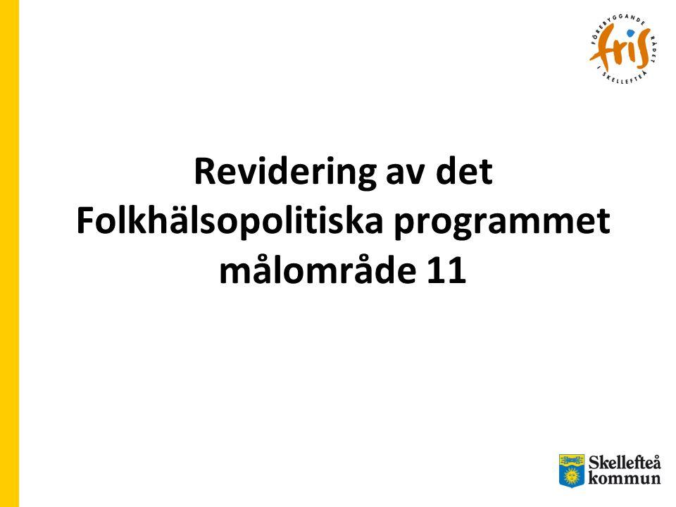 Revidering av det Folkhälsopolitiska programmet målområde 11