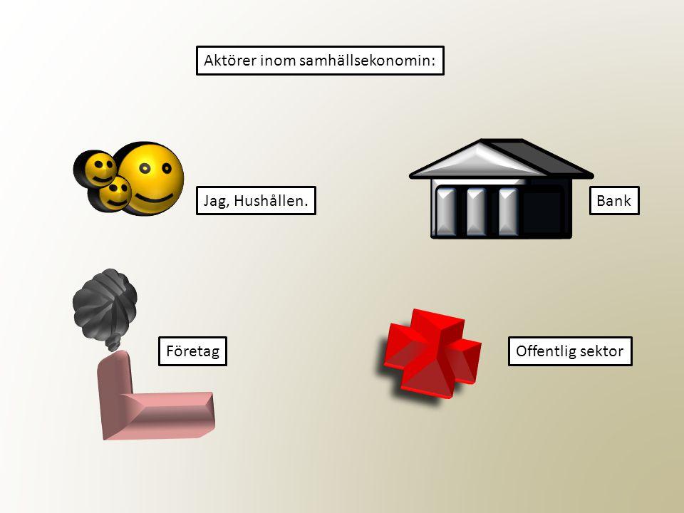 Aktörer inom samhällsekonomin: