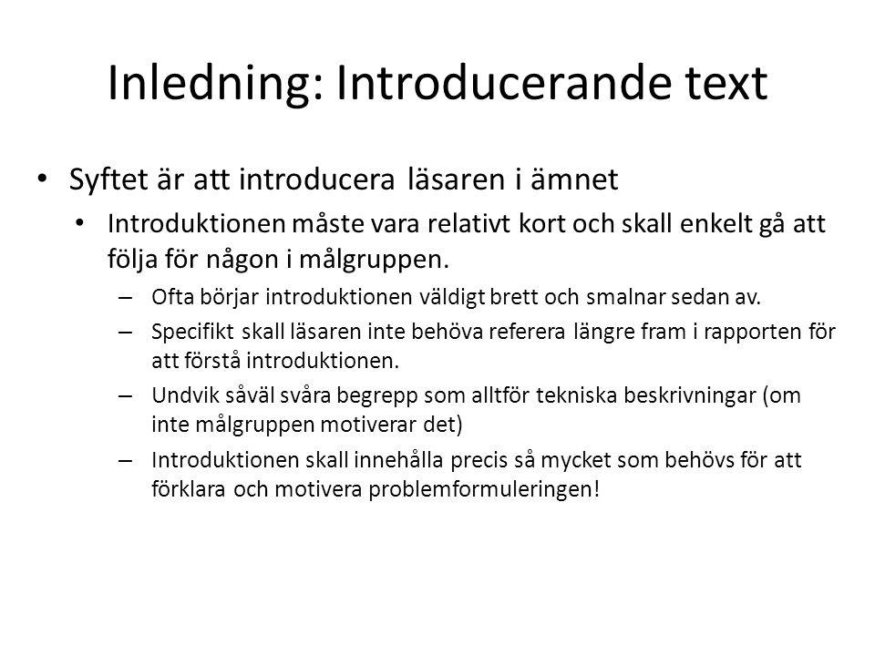 Inledning: Introducerande text