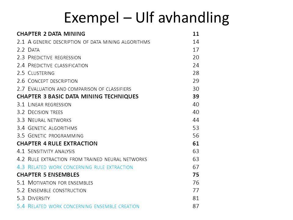 Exempel – Ulf avhandling