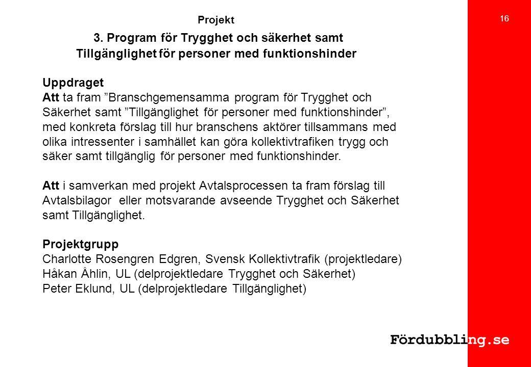 Charlotte Rosengren Edgren, Svensk Kollektivtrafik (projektledare)