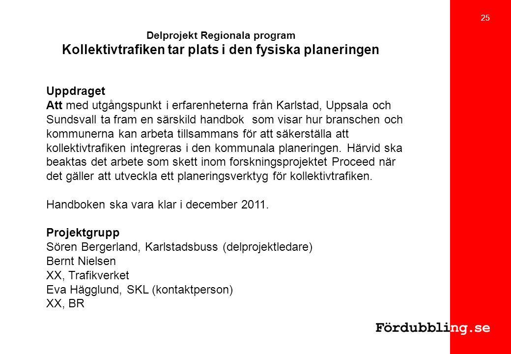 Handboken ska vara klar i december 2011. Projektgrupp