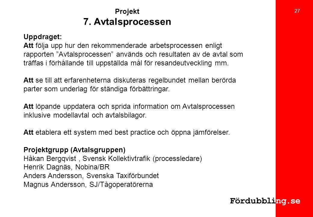 Projekt 7. Avtalsprocessen