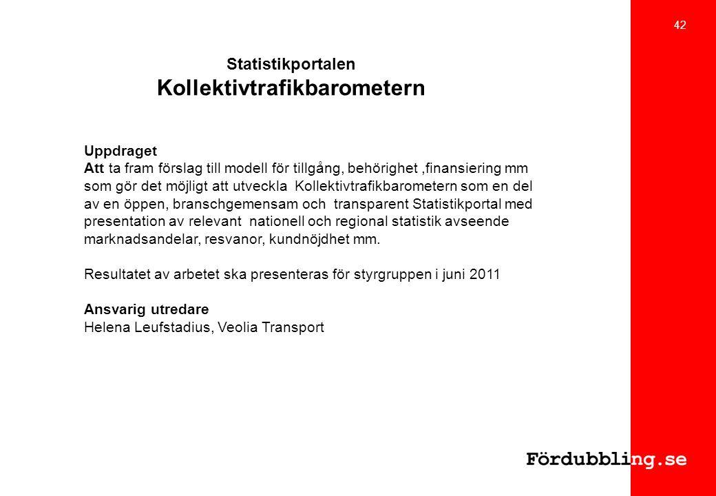 Statistikportalen Kollektivtrafikbarometern