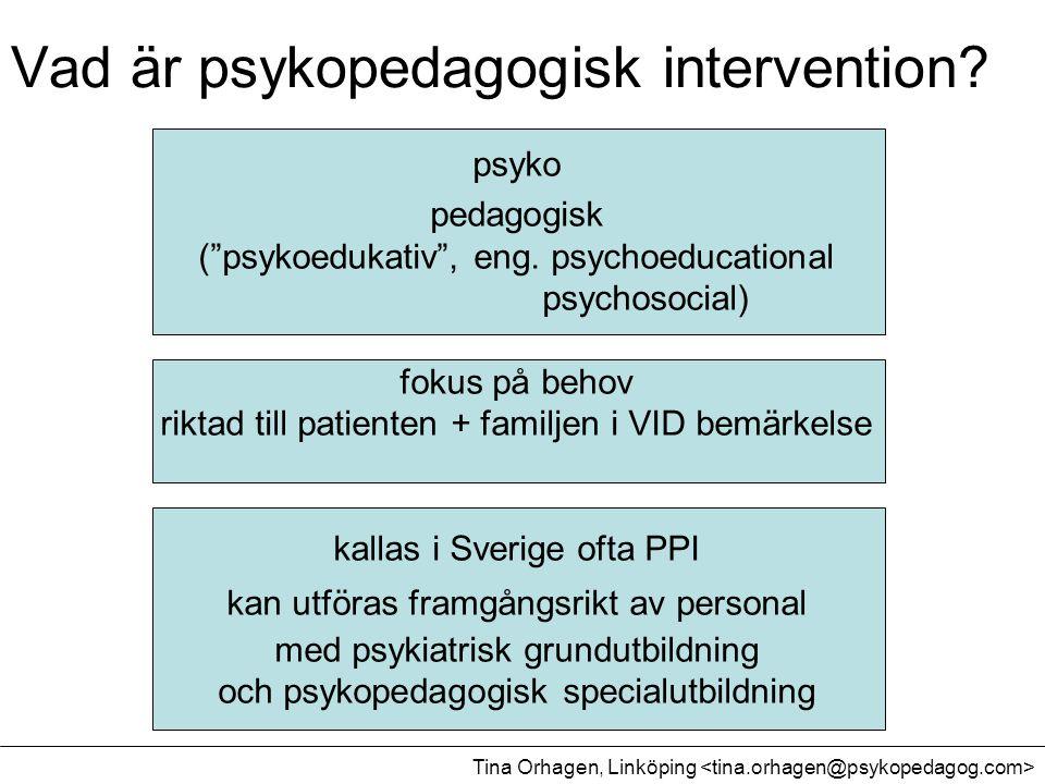 Vad är psykopedagogisk intervention