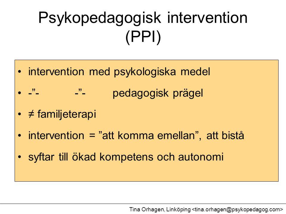 Psykopedagogisk intervention (PPI)