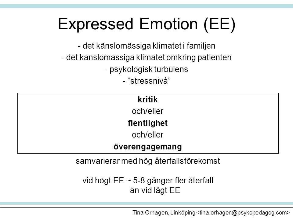 Expressed Emotion (EE)